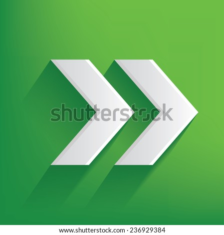 Right Arrow Symbol On Green Backgroundclean Stock Vector Royalty