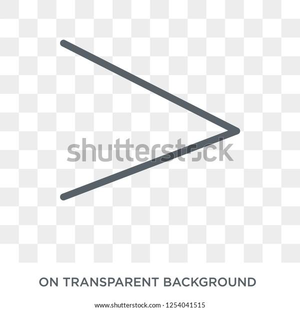 Right Chevron Icon Trendy Flat Vector Stock Vector (Royalty