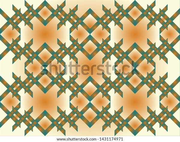 The right and half angles on the rectangles combine to form an abstract lattice with spaces filled with colors with gradients.