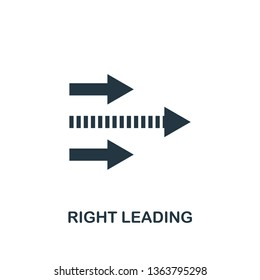 Right Leading icon. Creative element design from productivity icons collection. Pixel perfect Right Leading icon for web design, apps, software, print usage