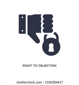 right to objection isolated icon. Simple element illustration from gdpr concept. right to objection editable logo symbol design on white background. Can be use for web and mobile.