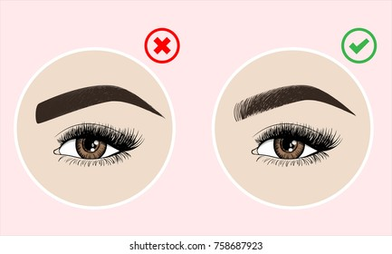 Types Eyebrows Images, Stock Photos & Vectors | Shutterstock