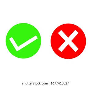 right wrong symbol, evaluation concept, vote icon