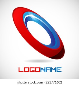 Ring Abstract Vector Logo Design Template. Business Technology Circle Icon . New Business Creative Idea