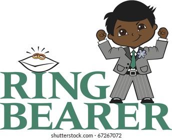 Ring Bearer Little Boy Black Hair Dark Skin