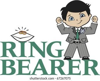 Ring Bearer Little Boy Black Hair Caucasian