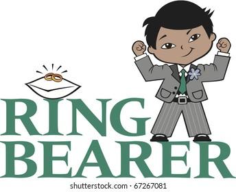 Ring Bearer Little Boy Black Hair Mocha Skin Asian Features