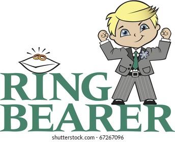 Ring Bearer Little Boy Blonde Hair Caucasian