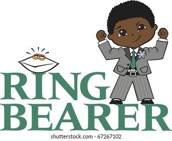 Ring Bearer Little Boy Curly Black Hair Dark Skin