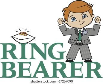 Ring Bearer Little Boy Red Hair Caucasian