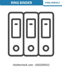 Ring Binder Icon. Professional, pixel perfect icons optimized for both large and small resolutions. EPS 8 format. 12x size for preview.