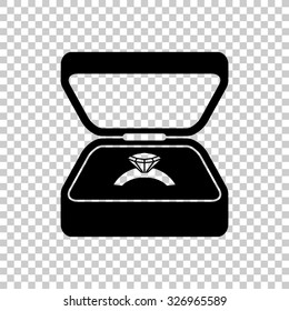 ring in a box vector icon - black illustration