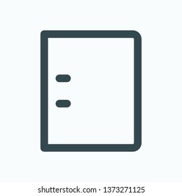Ring file binder isolated icon, ring file folder outline vector icon