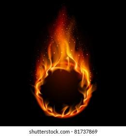 Ring of Fire. Illustration on black background for design