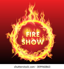 Ring of fire isolated on background. Vector illustration