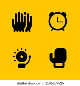 ring icon set. boxing, alarm and gloves vector icon for graphic design and web