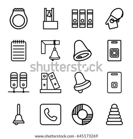 Ring Icons Set Set 16 Ring Stock Vector Royalty Free 645173269