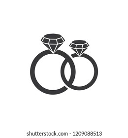 ring jewelry logo icon vector template