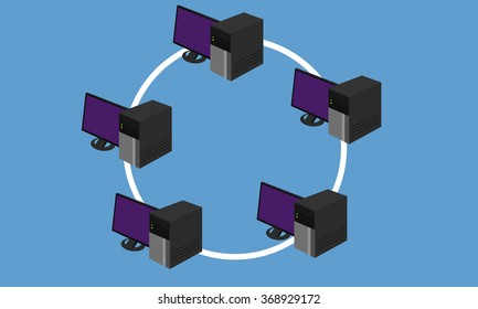 ring network topology LAN design networking hardware connected