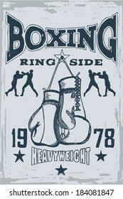 Ring Side T-Shirt Print