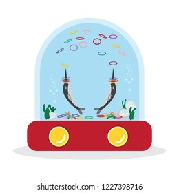 Ring toss water game icon. Portable Water Games - Handheld water game. Waterfuls Ring Toss Game. Element of toys icon for mobile concept and web apps. Vector , illustration