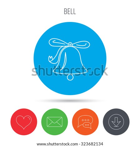 Ringing Jingle Bell Icon Sound Sign Stock Vector (Royalty Free