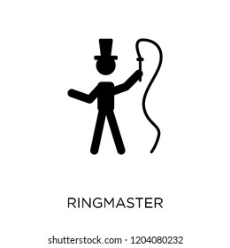ringmaster icon. ringmaster symbol design from Circus collection. Simple element vector illustration on white background.