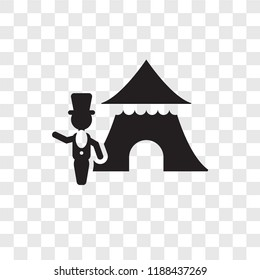 Ringmaster man vector icon isolated on transparent background, Ringmaster man transparency logo concept