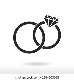 Rings icon vector