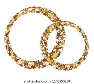 Rings made of golden stars