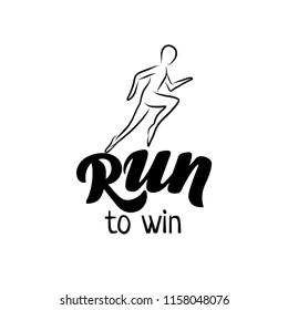 Rinning hand drawn outline icon for sport event or marathon or competition or triathlon team or runner club, check list, invitation, poster, banner, logo. Runner icon, sport tattoo. Running man
