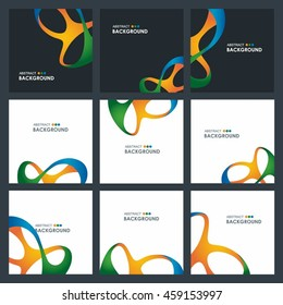 Rio 2016 Paralympic Olympics abstract colorful background set