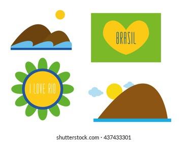 Rio Brazil Set Vector