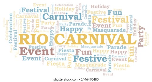 Rio Carnival word cloud vector made with text only