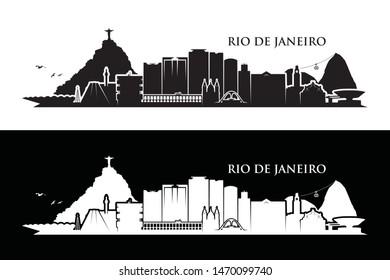 Rio de Janeiro skyline - Brazil - vector illustration