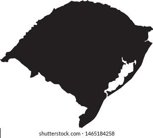 Rio Grande do Sul state map in Brazil
