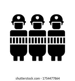 riot police icon or logo isolated sign symbol vector illustration - high quality black style vector icons