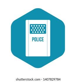Riot shield icon. Simple illustration of riot shield vector icon for web