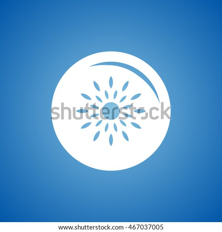 Ripe Passion Fruit Icon On Blue Stock Vector (Royalty Free