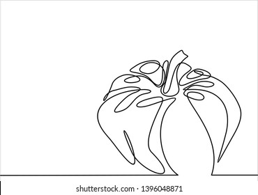 Ripe pumpkin continuous line drawing