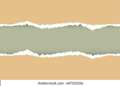 ripped paper color  , vector and illustration on background, with space for text