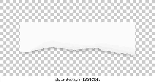 Ripped paper texture. Torn paper edges background. White paper for banner tag background. Vector illustration.