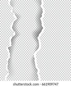 Ripped paper transparent with space for text, vector art and illustration.