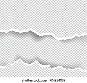 Ripped paper transparent with space for text, vector art and illustration