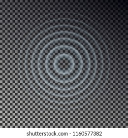 Ripple effect top view. Transparent Water drop rings. Circle sound wave isolated on checkered background. Vector round effect. Texture illustration.