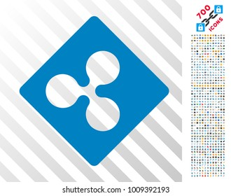 Ripple Rhombus pictograph with 700 bonus bitcoin mining and blockchain pictures. Vector illustration style is flat iconic symbols designed for crypto currency software.