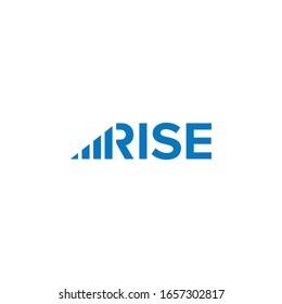 Rise Progress Graph Wordmak Logo