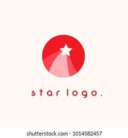 rising star simple logo