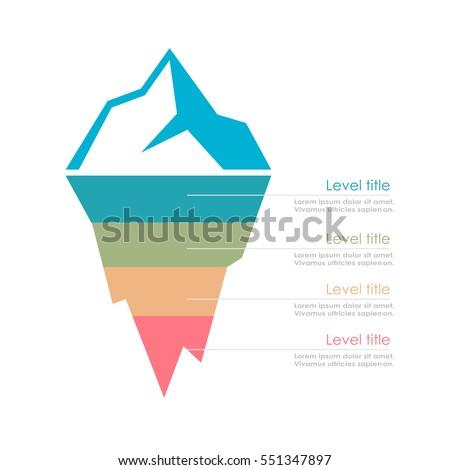 Risk Analysis Iceberg Vector Layered Diagram Stock Vector Royalty