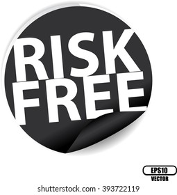Risk free black Label, Sign, stickers and symbol -Vector Illustration